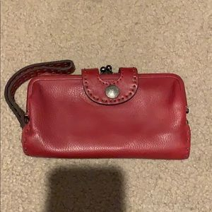 Lucky Brand red wallet